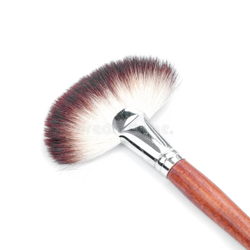 Makeup Brush. On white background royalty free stock images
