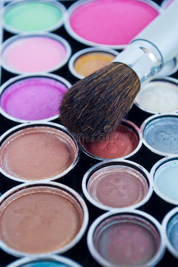 Download Makeup brushes stock image. Image of model, makeup, up - 26763761