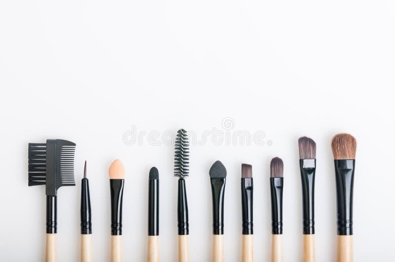 Makeup Brushes. Makeup brush on white background stock photography
