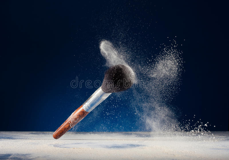 Makeup brushes and powder royalty free stock image