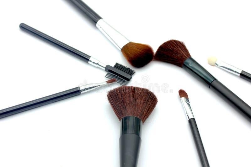 makeup brushes royalty free stock photos