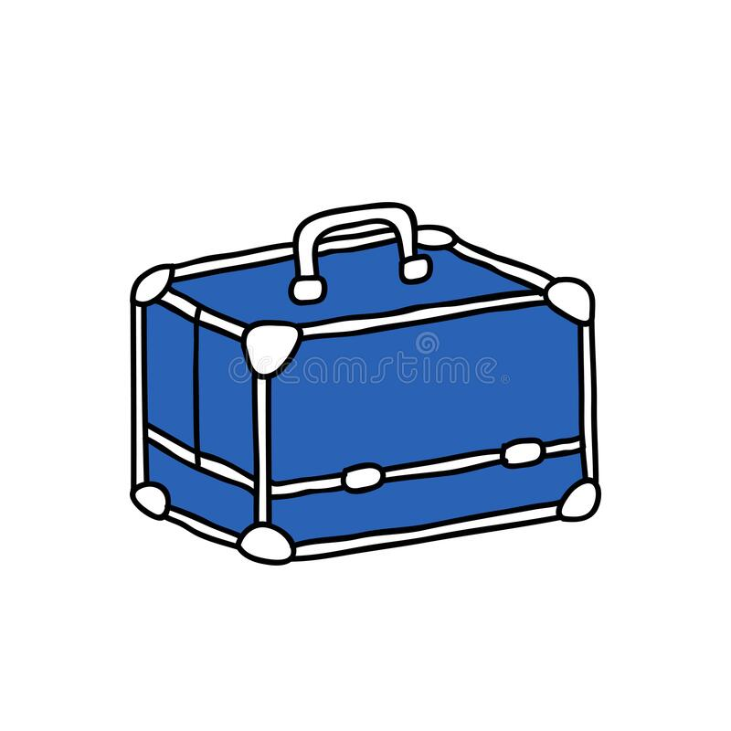 Makeup case doodle icon. Vector illustration royalty free illustration