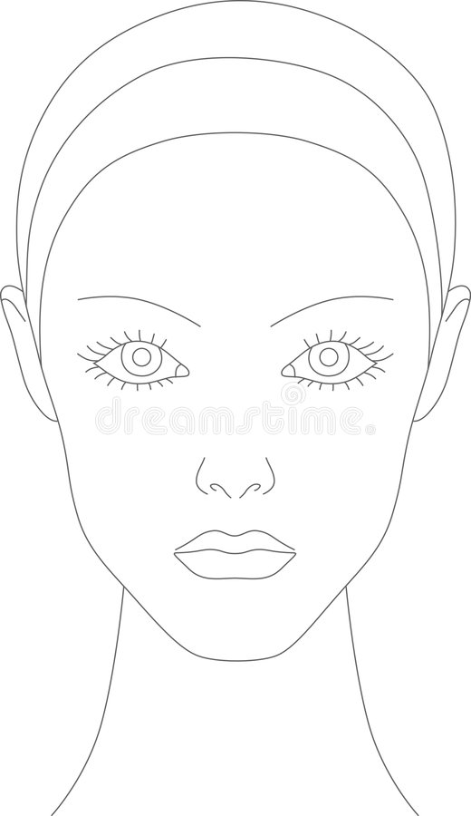 Makeup Chart Royalty Free Stock Images