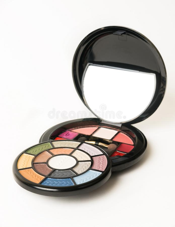 Makeup colorful collection. Close up royalty free stock image