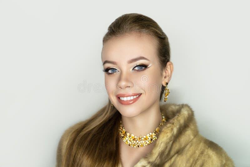 Makeup cut crease stock image