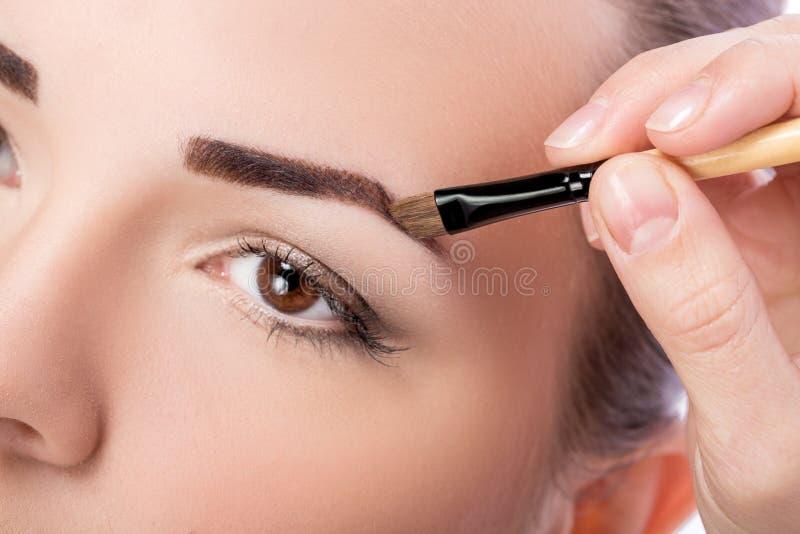 Makeup dla brwi fotografia stock