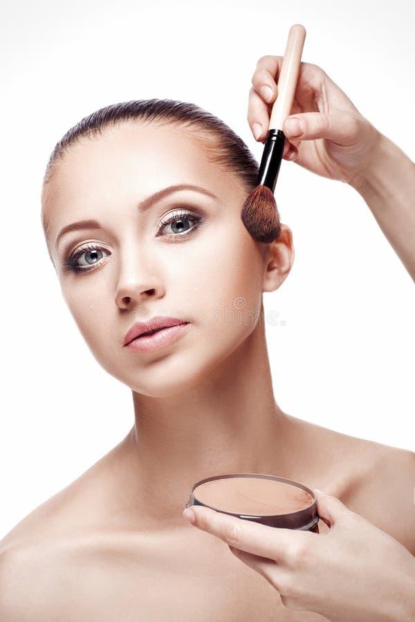 Makeup för brunetter royaltyfria foton