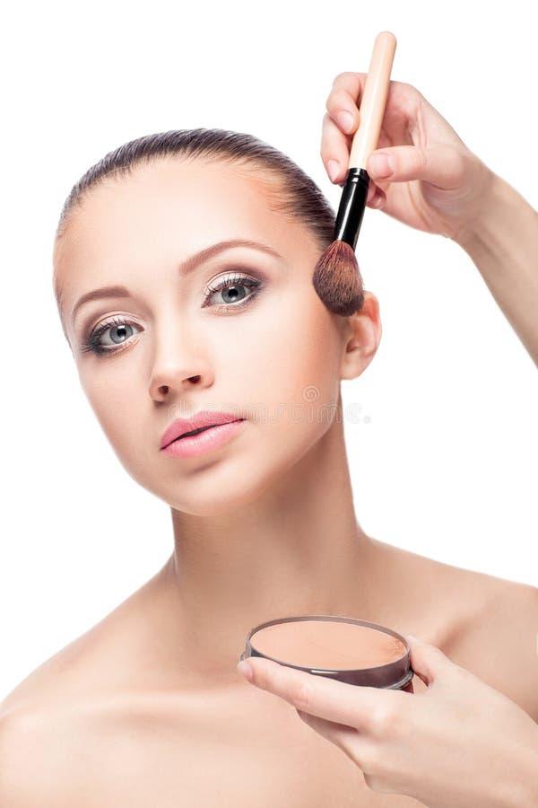 Makeup för brunetter fotografering för bildbyråer