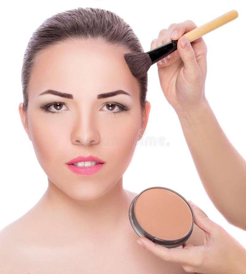 Makeup för brunetter arkivfoton