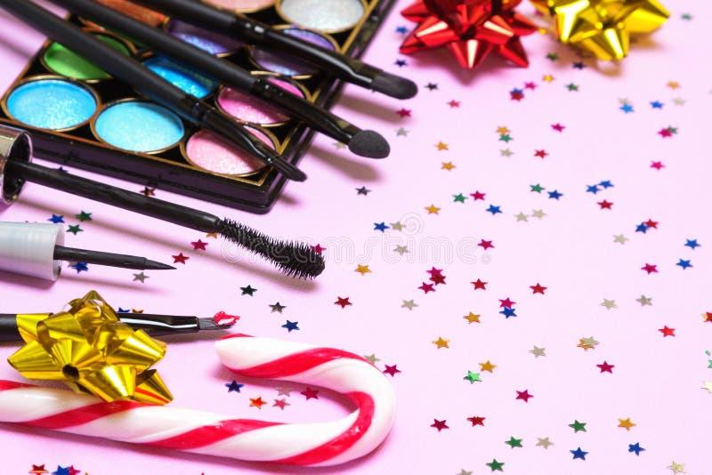 Makeup för ferieparti royaltyfri foto