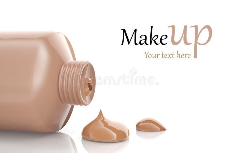 Makeup foundation. Cream isolated on white background royalty free illustration