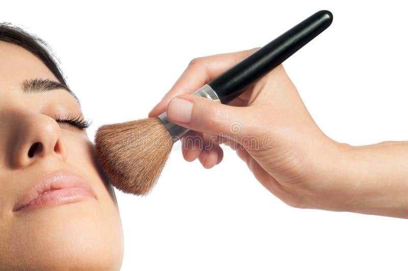 Makeup i rumieniec obrazy royalty free