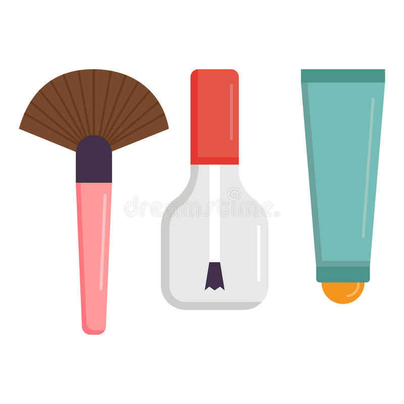 Free Makeup Icons Perfume Mascara Care Brushes Comb Faced Eyeshadow Glamour Female Accessory Vector. Royalty Free Stock Photo - 91753065