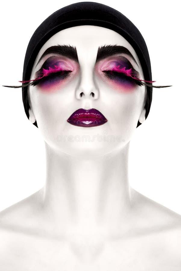 makeup kreatywnie kobieta zdjęcia royalty free
