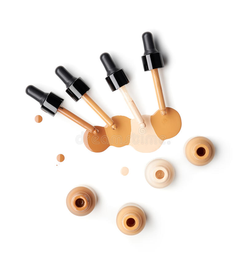 Makeup liquid foundation royalty free stock photo