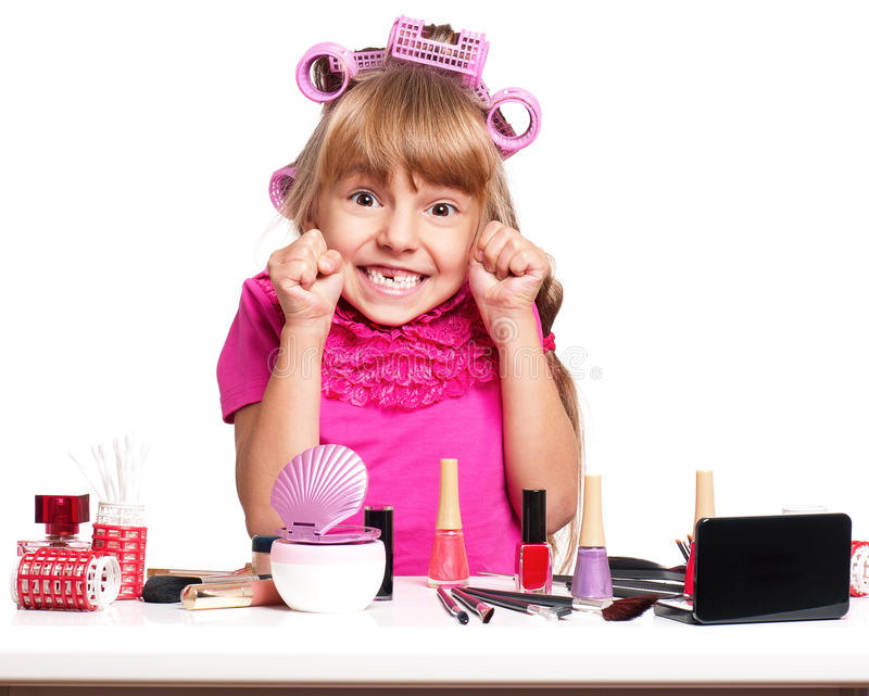 Download Makeup little girl stock photo. Image of hairdresser - 28930852