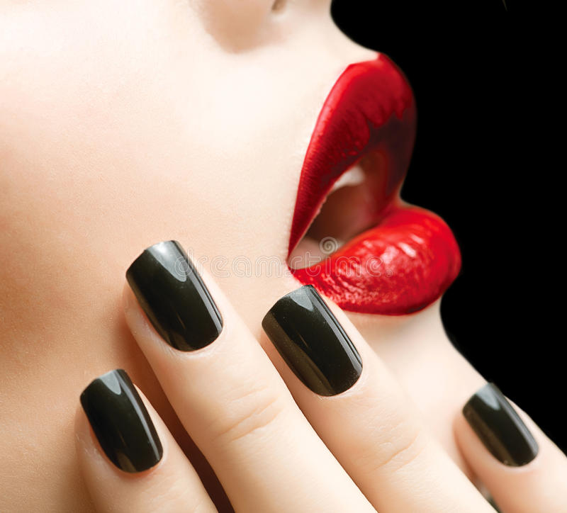 Makeup and Manicure stock image