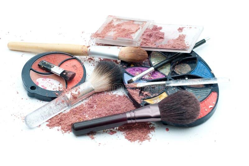 Makeup mess stock image