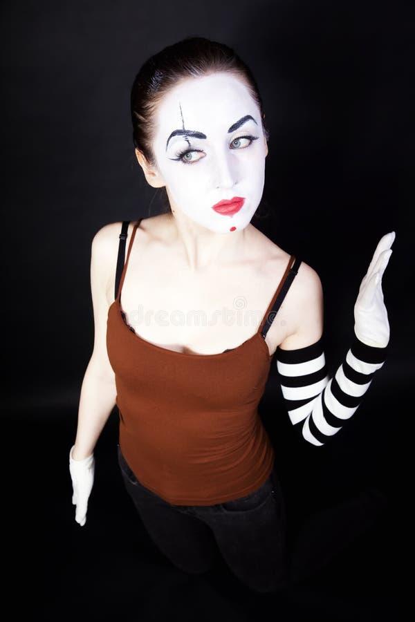 makeup mime θεατρική γυναίκα στοκ φωτογραφία με δικαίωμα ελεύθερης χρήσης