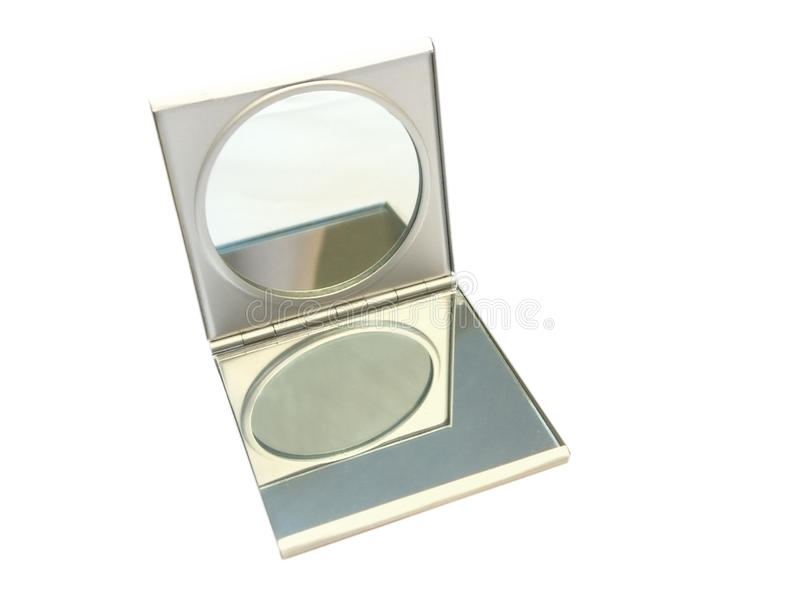 Makeup mirror. Small female mirror for a make-up royalty free stock image
