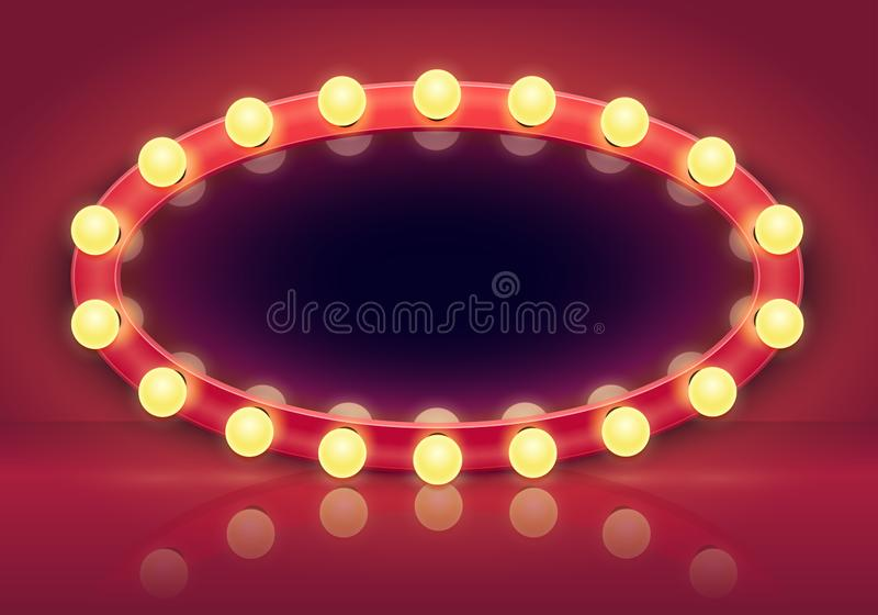 Red Room With Mirror Stock Vector Illustration Of