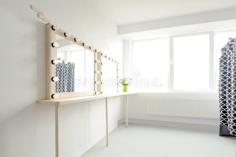 Makeup mirror lights stock photos