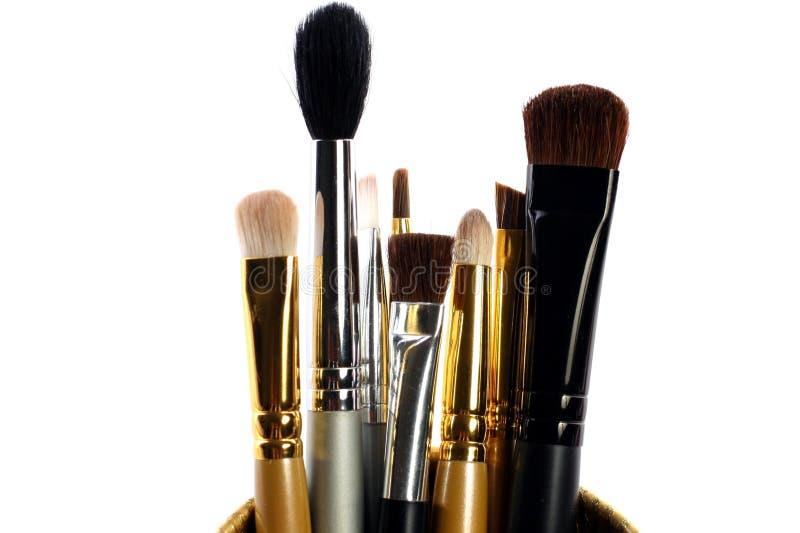 Makeup muśnięcia w zbiorniku zdjęcie stock