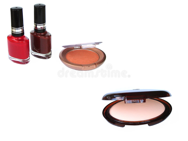 Makeup nail polish royalty free stock images