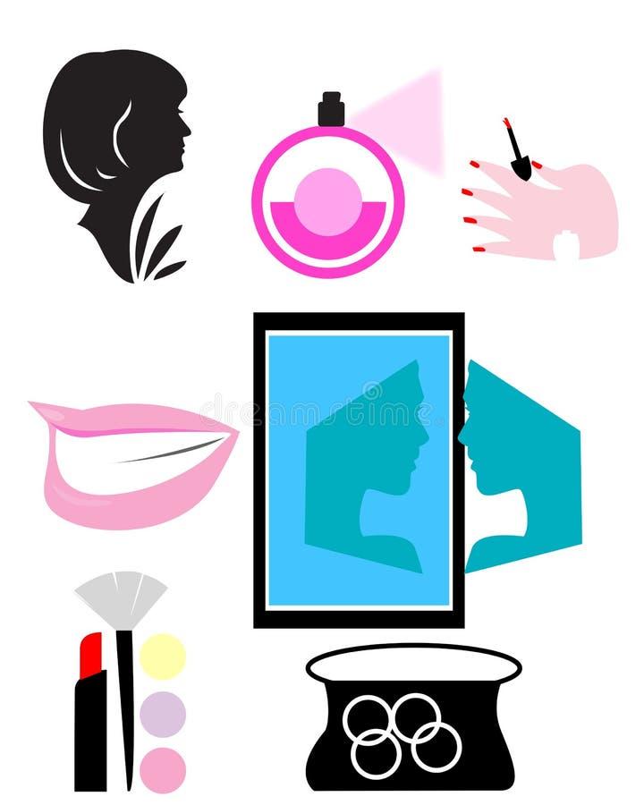 Makeup narzędzia ilustracja wektor