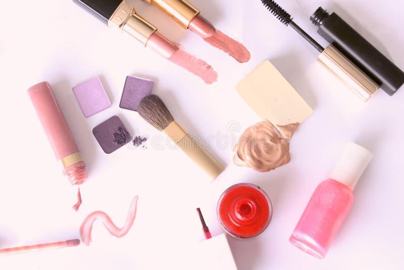 makeup narzędzia fachowi ustaleni fotografia stock
