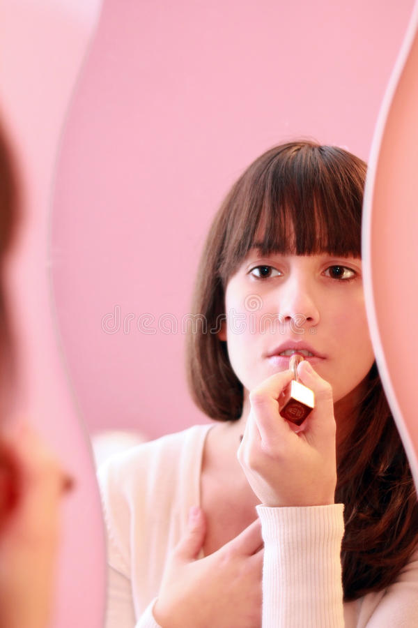 makeup nastolatek obraz royalty free