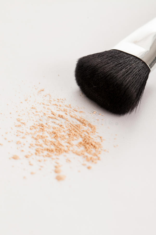 Download Makeup Natural Brush With Beige Powder Stock Photo - Image: 30956846