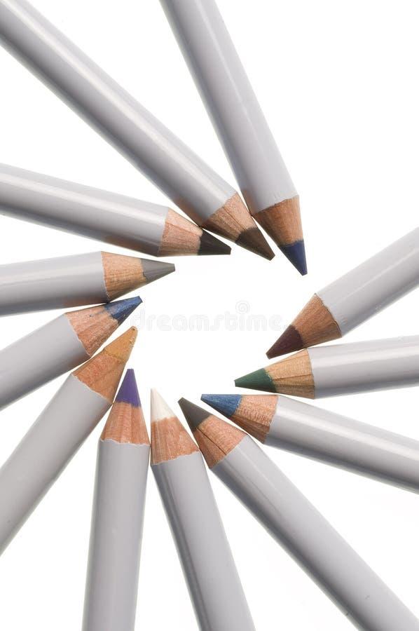 Makeup ołówki fotografia royalty free