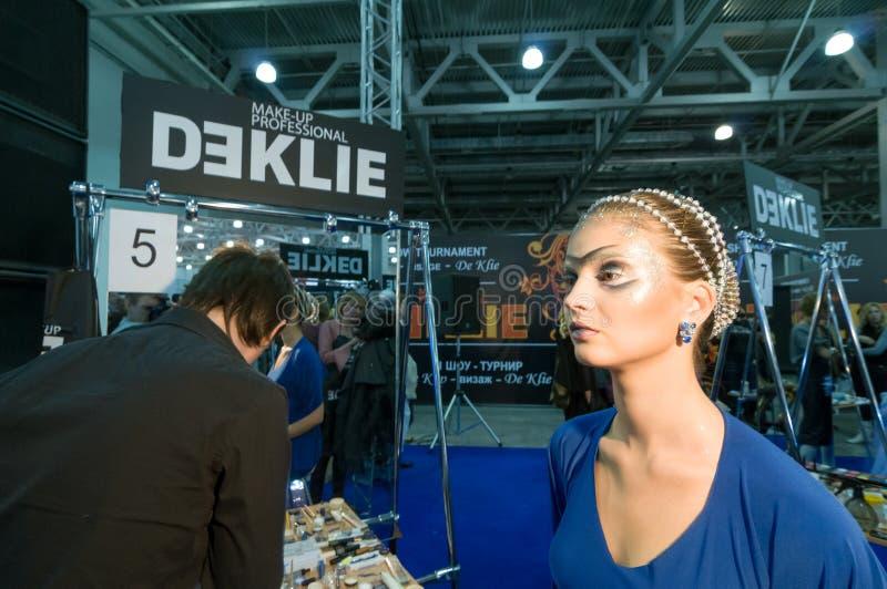 Makeup och hårkonstnärkonkurrens royaltyfria foton