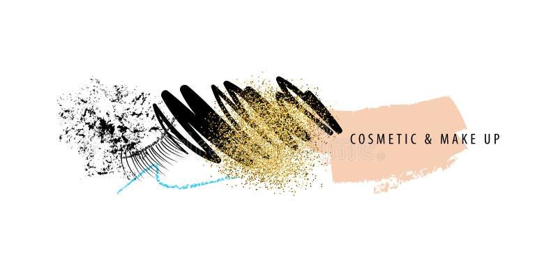 Makeup- och skönhetsmedelslaglängder stock illustrationer
