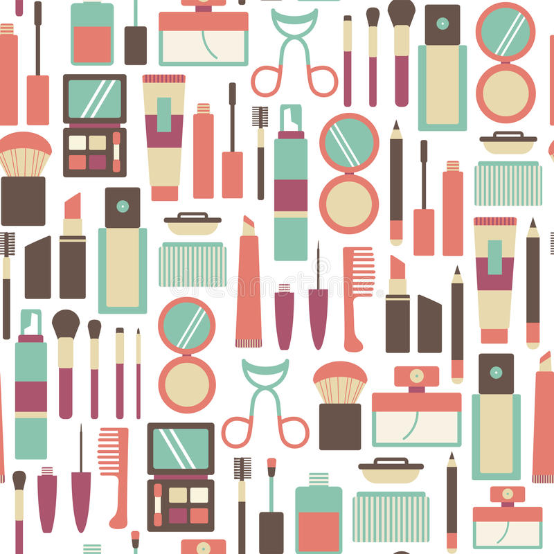 Makeup pattern vector illustration