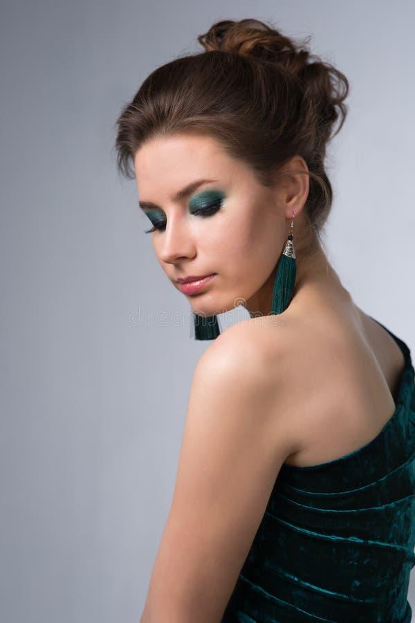 makeup piękna jaskrawy kobieta obraz royalty free