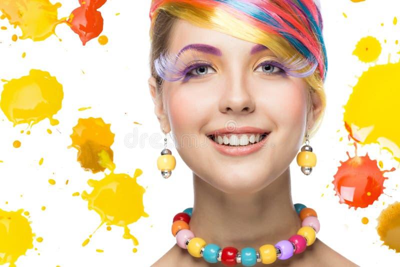 makeup piękna jaskrawy kobieta fotografia royalty free