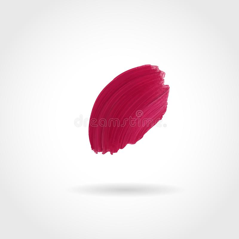 Bright makeup product smear, smoothly smudged. Makeup sample, use for advertising flyer, banner, brochure and booklet stock illustration