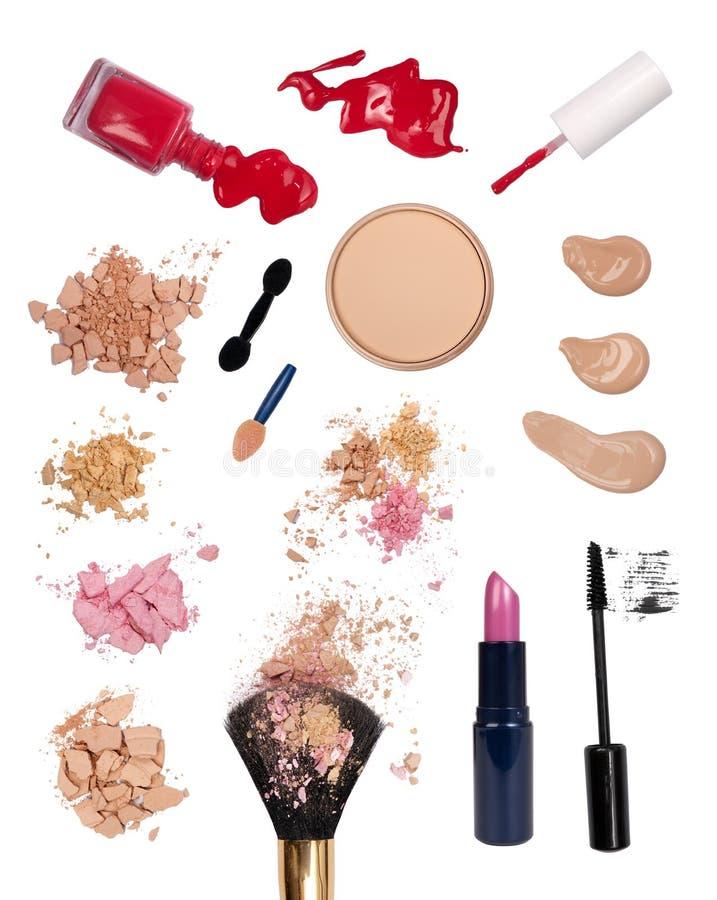 Makeup products stock photos