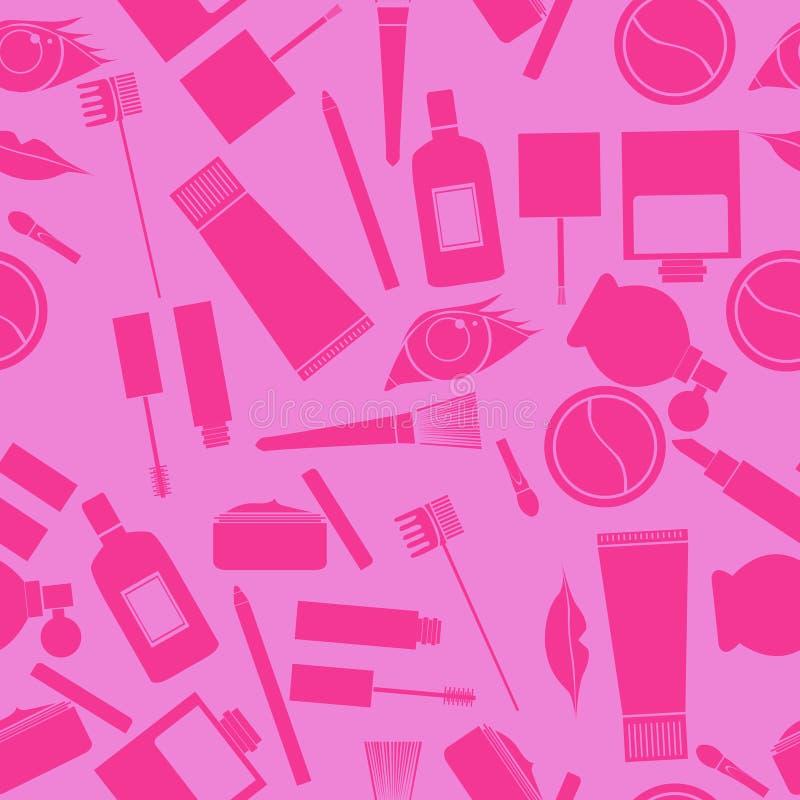 Download Makeup seamless pattern stock vector. Image of nail, cosmetics - 28565609