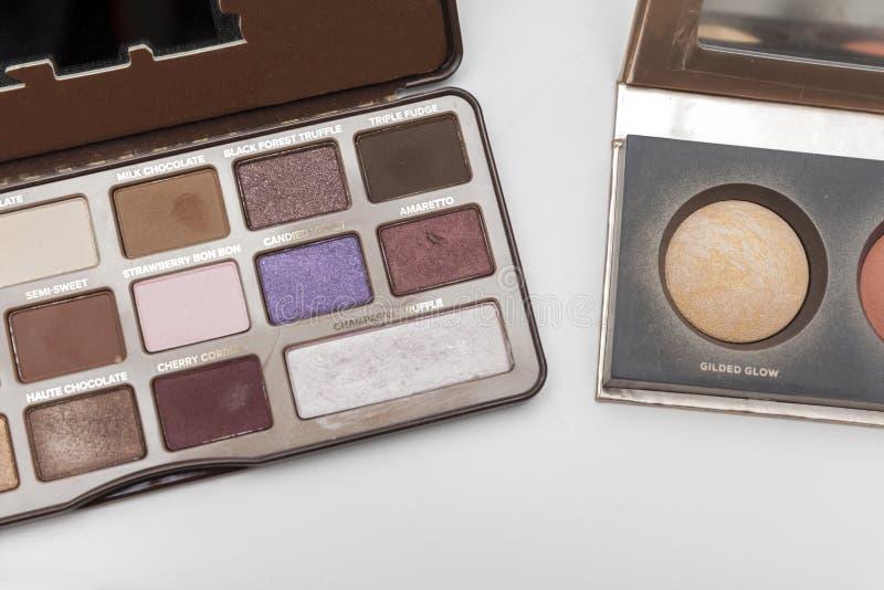 Makeup set colours royalty free stock photo