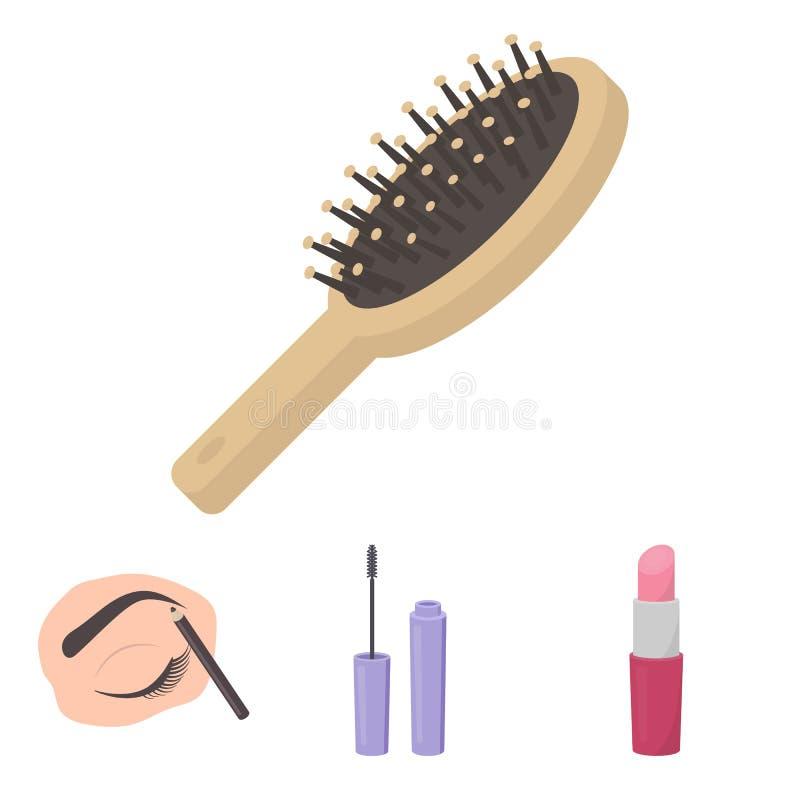 Makeup släkt symbolsuppsättning stock illustrationer