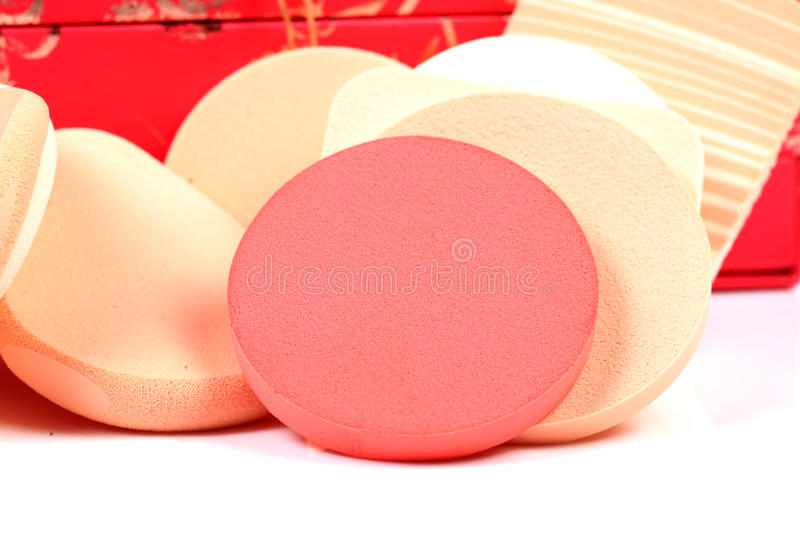 Makeup sponges stock photography