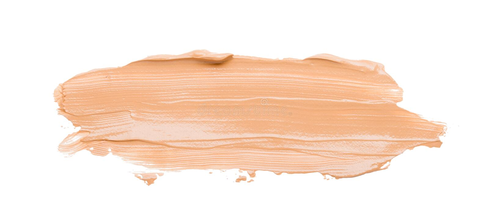 Makeup tonal cosmetic foundation cream corrector on a white background. Makeup tonal cosmetic foundation cream on a white background royalty free stock photo