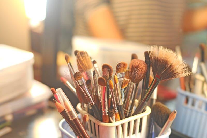 Makeup tools for women stock photos