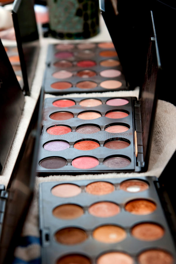 Makeup trays royalty free stock images