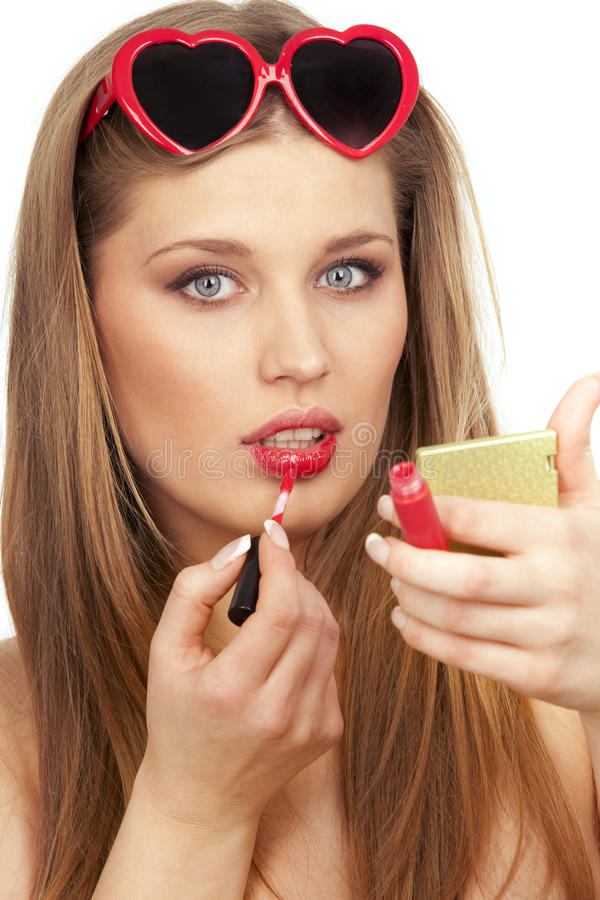 makeup valentine obrazy royalty free