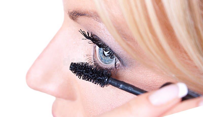 Makeup Woman  Eyelash  Treatment Royalty Free Stock Image