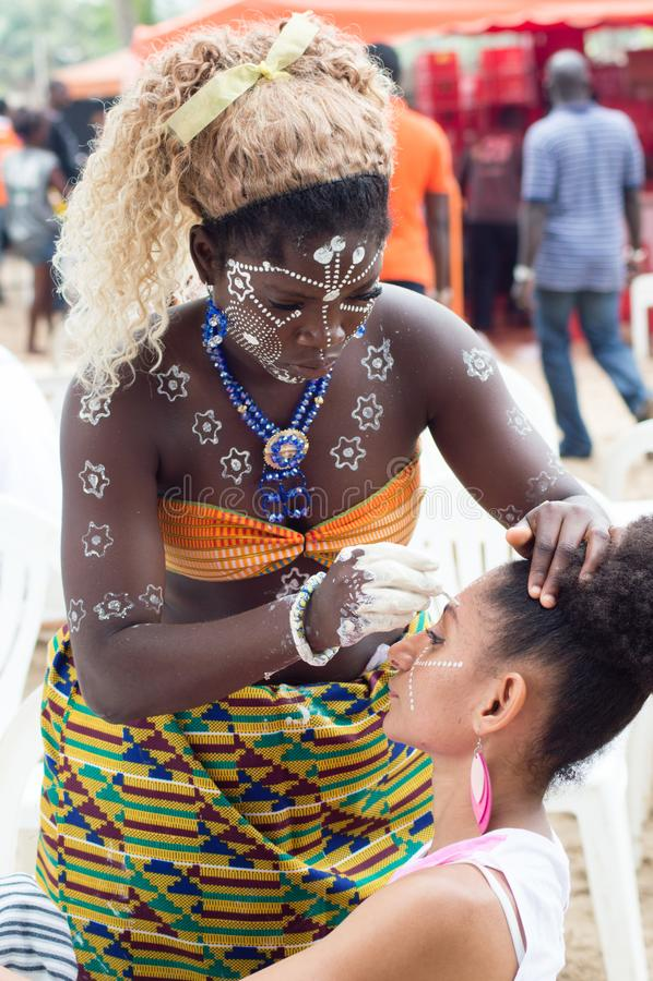 Makeup of women. stock photography